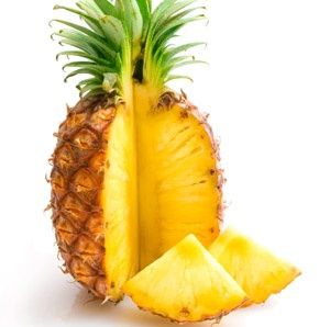 Pineapple for skin tags
