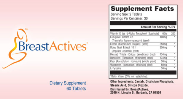 Breast Actives Supplement Ingredients